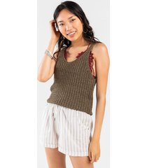 amelle sweater tank top - olive