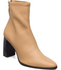 punto shoes boots ankle boots ankle boot - heel beige mango
