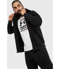 chaqueta negro under armour ua rival fleece full zip hoodie