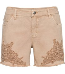shorts con pizzo (beige) - bodyflirt