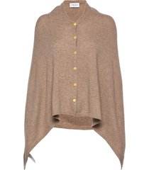 poncho gold buttons poncho regnkläder beige davida cashmere