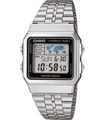 reloj vintage plateado casio