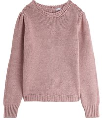 il gufo wool and viscose sweater with back buttons