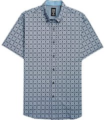 con. struct navy medallions short sleeve sport shirt
