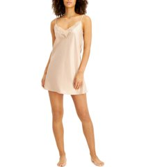 inc lace-trim satin chemise nightgown, created for macy's