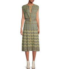 m missoni women's zigzag blouson dress - grey - size 40 (4)