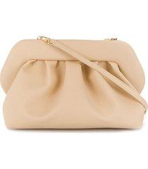 themoirè pleated faux-leather clutch bag - neutrals