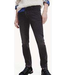 jeans slim bleecker negro tommy hilfiger