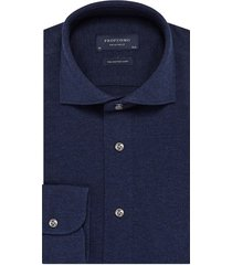 profuomo knitted shirt donkerblauw slim fit