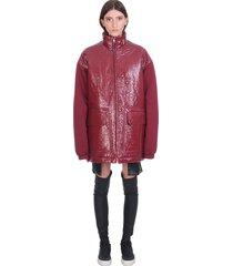 drkshdw paulette parka casual jacket in bordeaux polyamide
