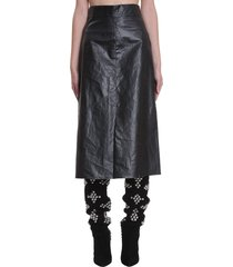 isabel marant domiae skirt in black polyester