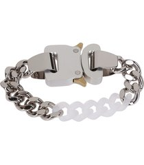 1017 alyx 9sm silver-tone and clear chain bracelet