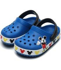 babuche crocs infantil mickey mouse azul