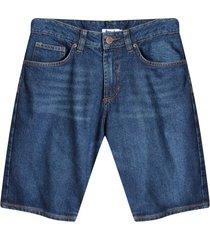 bermuda jean azul oscuro color azul, talla 28