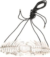 silver platedss feather belt, women's, josie natori