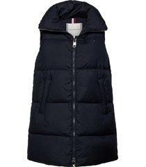 down long length vest vests padded vests blauw tommy hilfiger