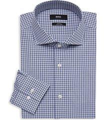 slim-fit plaid dress shirt