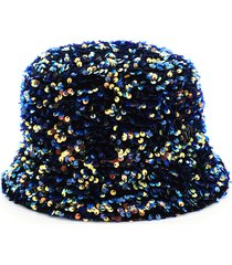 maison michel axel flora sequined bucket hat
