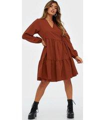 pieces pccamilla ls wrap dress d2d loose fit dresses