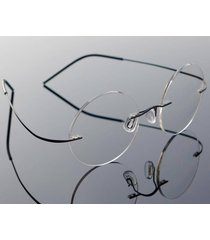vintage rimless steve jobs round titanium eyeglasses glasses frames rx spectacle