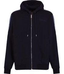 versace logo band hoodie