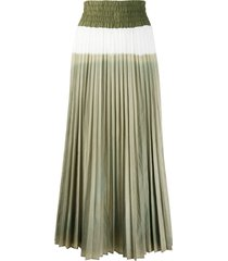 mr & mrs italy long skirt with tie-dye plisse