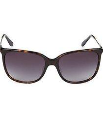 58mm havana square sunglasses