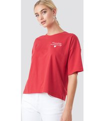 na-kd monday mournings oversized tee - red