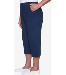 alfred dunner women's missy island hopping sheeting capri pants