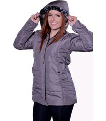 casaco sobretudo carbella winter cinza - kanui