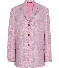 pink molly embossed lizard blazer