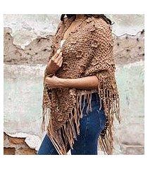 100% alpaca shawl, 'nazca roses' (peru)