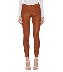 super skinny cuff zip leather leggings