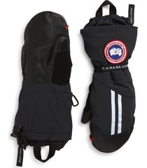 men's canada goose snow mantra 3-in-1 600 fill power down mittens, size small - black