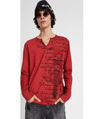 motorcycle message t-shirt - red - xxl