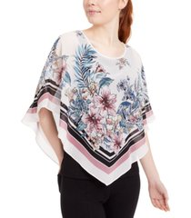 bcx juniors' scarf-print popover top