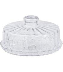 boleira de vidro com tampa - prato para bolo com tampa estilo veneto - branco - dafiti