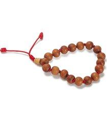 yak & yeti wood bead knotted bracelet - natural