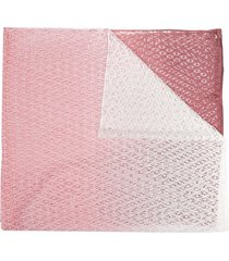 missoni open knit ombré scarf - pink