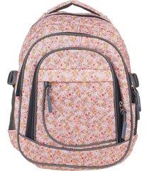 mochila rosa trendy 8211 flores