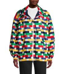 m missoni women's geometric logo-print jacket - size xs