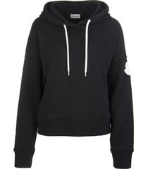 black woman hoodie with logo