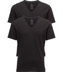 2p s/s v neck t-shirts short-sleeved svart calvin klein