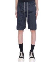 rick owens shorts in black polyamide