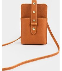 lola cellphone string wallet - brown