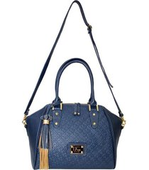 bolso lorenza  azul, femenino elaborado en cuero napa     lk - one by one