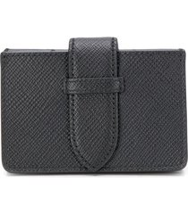smythson panama concertina card case - black
