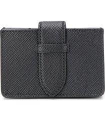 smythson panama concertina card case - black