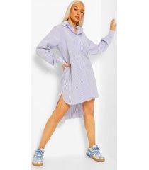 gestreepte super oversized blouse jurk, blue