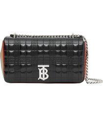 burberry small lola icon stripe detail quilted bag -